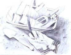Растушевка угольных рисунков