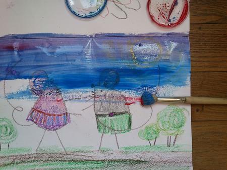 Детское творчество. Техника царапка.