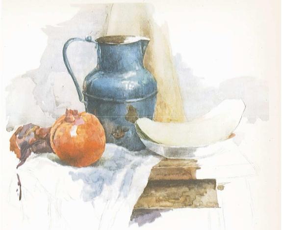 Рис. 3 — Промежуточная стадия выл о лнения натюрморта