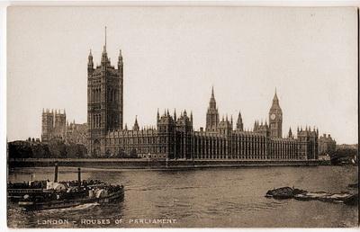 359. Сэр Чарлз Барри и А. Н. Уэлби Пэджин. Здание парламента в Лондоне. Строительство начато в 1839 г.